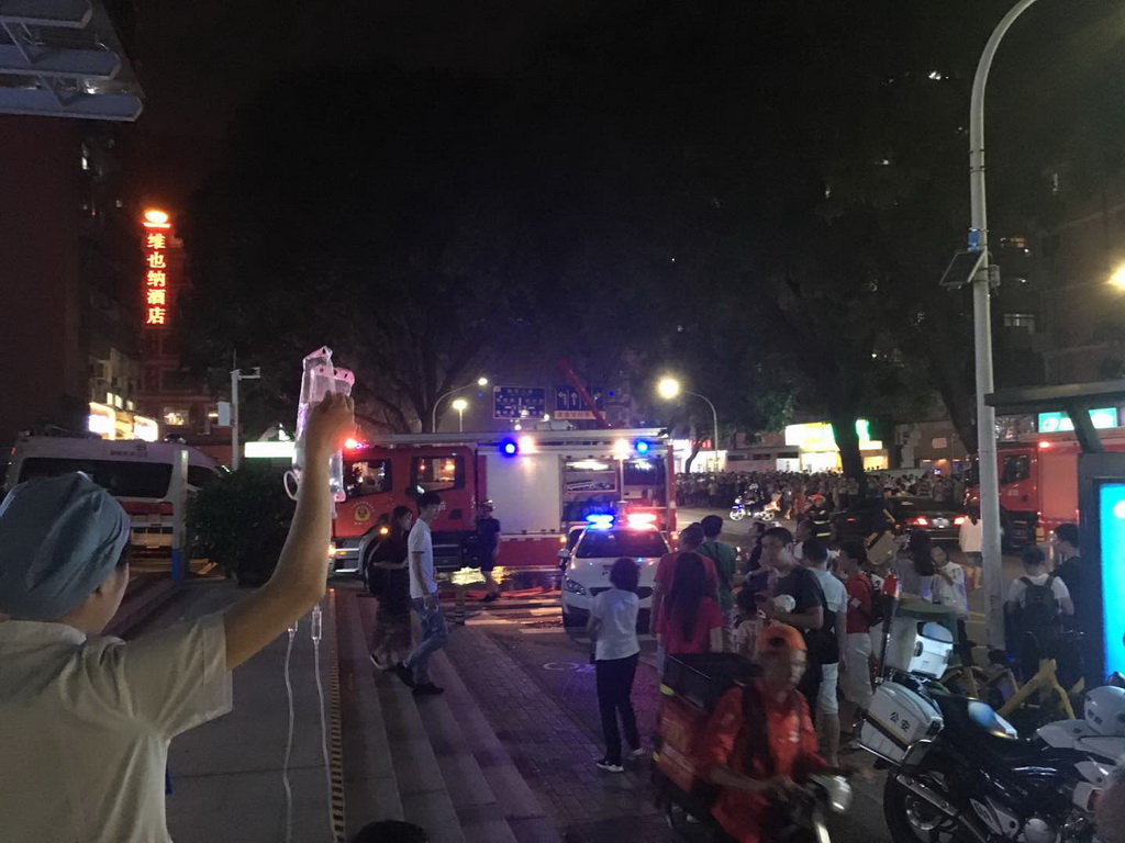 驚!福田第二人民醫院藥房突發火災 搶救室病人緊急疏散