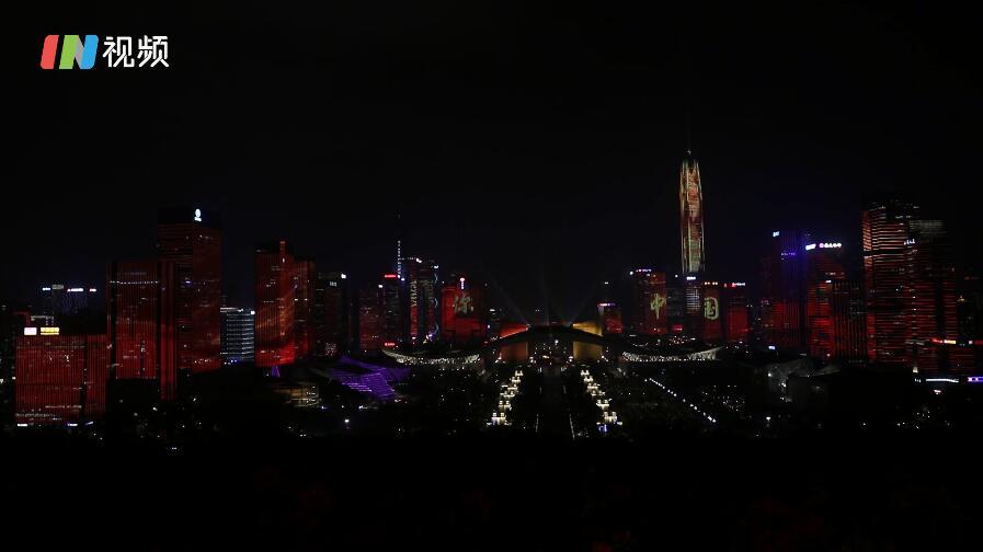 IN视频|海博会主题元素专场灯光秀上演