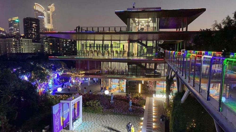 香蜜公园多了一座儿童文学小镇 福田儿童图书馆香蜜分馆开馆了!