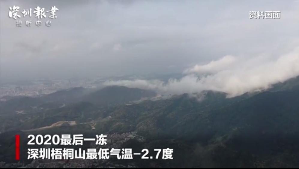 2020最后一冻,深圳梧桐山最低气温跌破零度